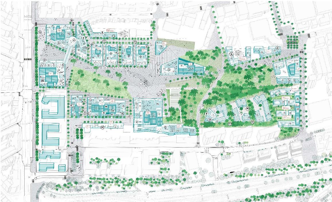 PAD Reyers / Mediapark : moins de commerces, plus de logements sociaux