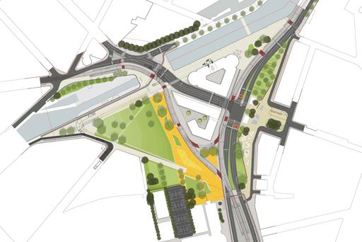 Réaménagement de la Porte de Ninove: encore un projet routier